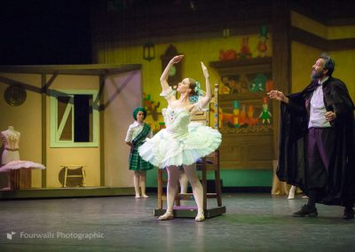 Swanhilda coming alive as Coppelia with Dr Coppelius