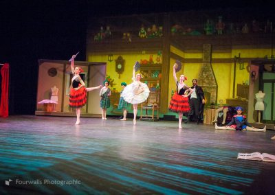 Swanhilda as Coppelia with the Spanish Dolls