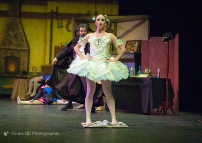 Swanhilda as Coppelia on the Book of Magic